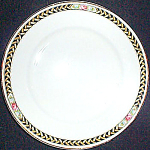 Crooksville Rose Band Bread Plate