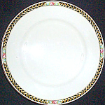 Crooksville Rose Band Salad Dessert Plate