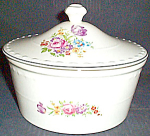 Crooksville La Grande Floral Covered Dish