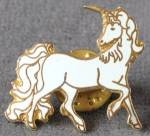 Blue Enamel Unicorn Pin/tie Tack