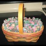 Longaberger 1997 Easter Basket Small Stained Signed