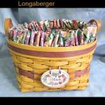 1997 Longaberger May Series Petunia Basket Set