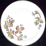 Crooksville Petit Point Vine Salad Plate