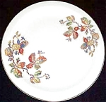 Crooksville Petit Point Vine Chop Plate