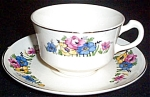 Crooksville Ivora Floral Cup And Saucer