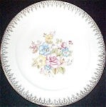 Crooksville Floral Filigree Dinner Plate