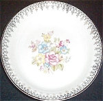 Crooksville Floral Filigree Soup Bowl