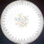 Crooksville Floral Filigree Bread Plate