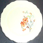 Ws George Rust Floral Bread Plate
