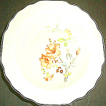 W.s. George Rust Floral Fruit Bowl