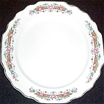 Ws George Flower Rim Salad Plate