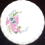 Ws George Pink Caladiums Bread Plate
