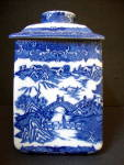 Blue Willow Tea Canister