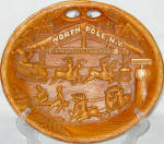 North Pole New York Christmas Souvenir Dish