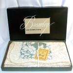 Bromley Quaker Lace 1940s 70x88 Tablecloth Mint In Box