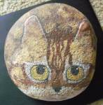 Stone Tabby Cat Paperweight