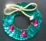 Sequin Wreath Pin