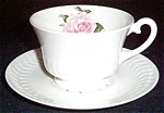 Theodore Haviland Rose Cup And Saucer