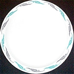 Homer Laughlin Blue Gray Leaves Dinner Plate