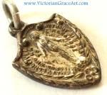 Vintage Art Nouveau Miraculous Medal Pendant Virgin Mary