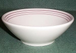 Homer Laughlin Purple Striped Cereal Bowl