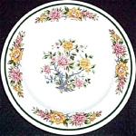 Homer Laughlin Pink Yellow Floral Bread Plate