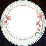 Homer Laughlin Floral Border Dinner Plate