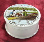 Fishing In A Punt Pot And Lid Ceramic Jar St. James's Vintage Hackney
