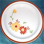 Homer Laughlin Brown Yellow Floral Dinner Plate