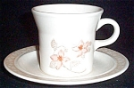 Royal Ironstone Peach Floral Cup And Saucer