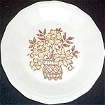 Homer Laughlin Gold Brown Floral Salad Plate