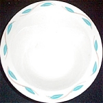 Homer Laughlin Aqua Leaf Border Cereal Bowl