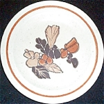 Homer Laughlin Brown Floral Bread Plate