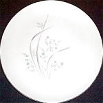 Kenmark Blue Gray Floral Dinner Plate
