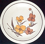 Homer Laughlin Brown Gold Floral Dinner Plate