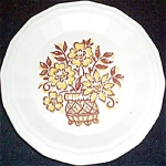 Homer Laughlin Yellow Brown Floral Bread Plate