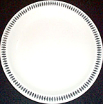Homer Laughlin Black Border Design Lunch Plate