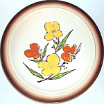 Homer Laughlin Orange Yellow Floral Dinner Plate