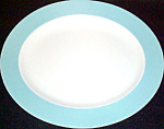 Homer Laughlin Aqua Rim Platter