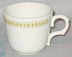 Homer Laughlin Gold Floral Band Cup