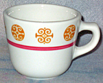 Homer Laughlin Gold And Pink Cup