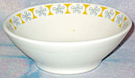 Homer Laughlin Black Yellow Floral Cereal Bowl