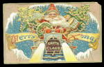 Santa Claus With Presents Merry Xmas 1907 Postcard
