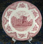 Plate Historic America Pink Transfer Wall St Johnson Brothers Dinner
