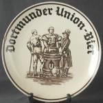 Vintage Dortmunder Union Bier Charger Plate