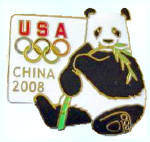 Beijing 2008 Olympic Games Panda Bear Usoc Pin