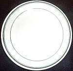 Homer Laughlin Green Band Salad Plate