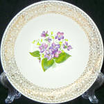 Cunningham And Pickett Springviolet Serving Bowl