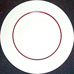 Homer Laughlin Gothic Red Stripe Bread Plate