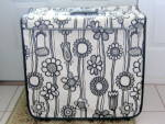 Samsonite Fashionaire Wild Gardenia Black White Flower Garment